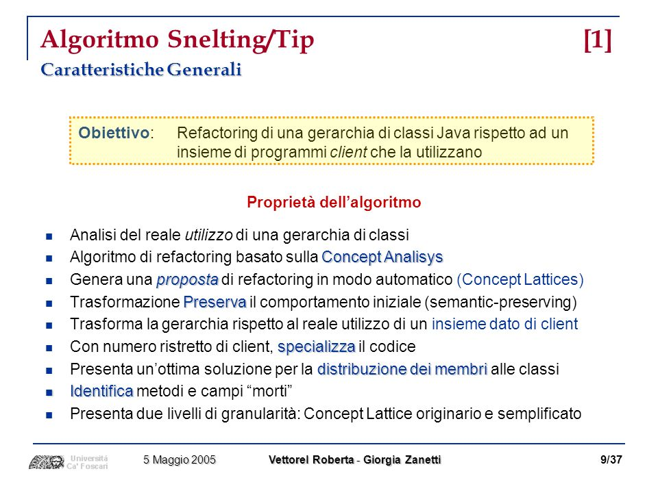 Algoritmo Snelting/Tip [1]